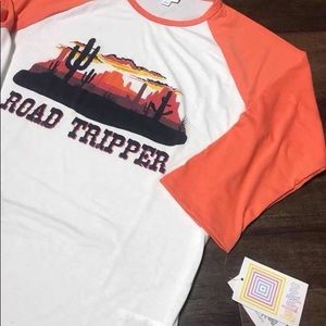 Lularoe Randy tee NWT road tripper graphic top